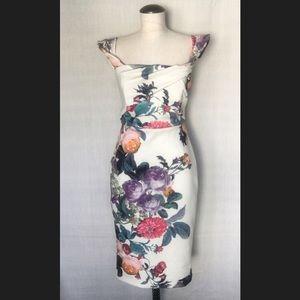 ASOS Flower Print Pencil Dress